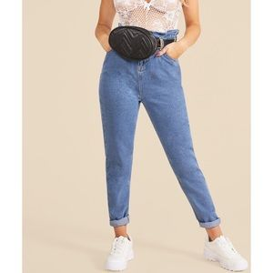 Paper Bag High Waisted Mom Jeans